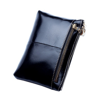 YGDB Brand Fashion Women Coin Purse Genuine Leather Ladies Wallet Card Pack Small Zipper Phone Bag Pouch LQ008