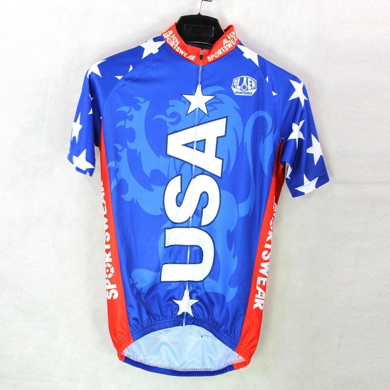 ФОТО Alien SportsWear USA Lions Summer Men top Sleeve Cycle Apparel Blue Breathable Size Bike Jersey XS-5XL
