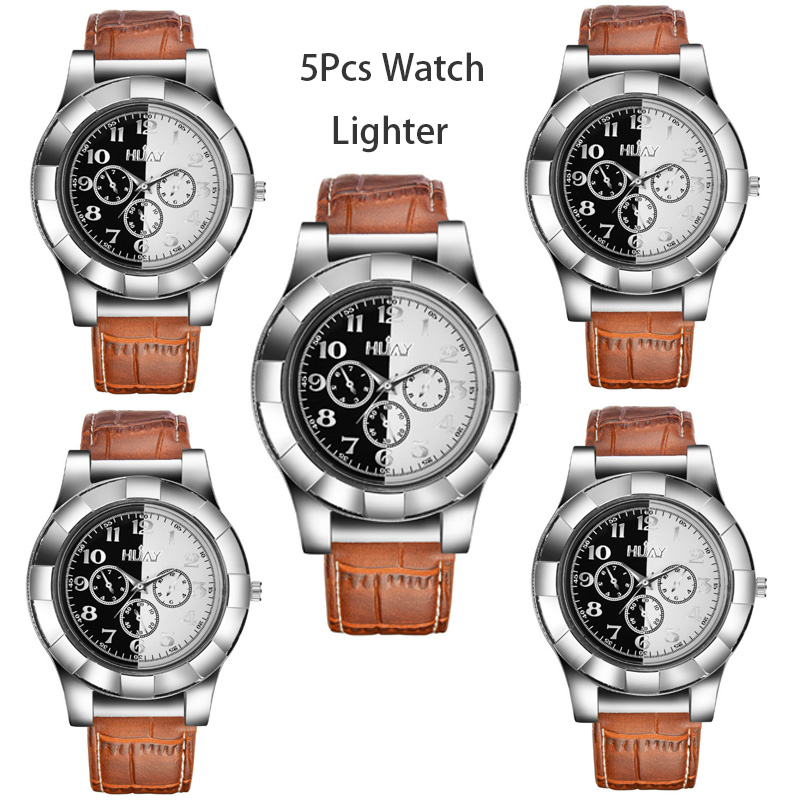 CkeyiN 5Pcs Military Lighter Watch Men Outdoor Flameless Windproof rechargeable usb USB Lighter sports Quartz Wristwatches 40CkeyiN 5Pcs Military Lighter Watch Men Outdoor Flameless Windproof rechargeable usb USB Lighter sports Quartz Wristwatches 40