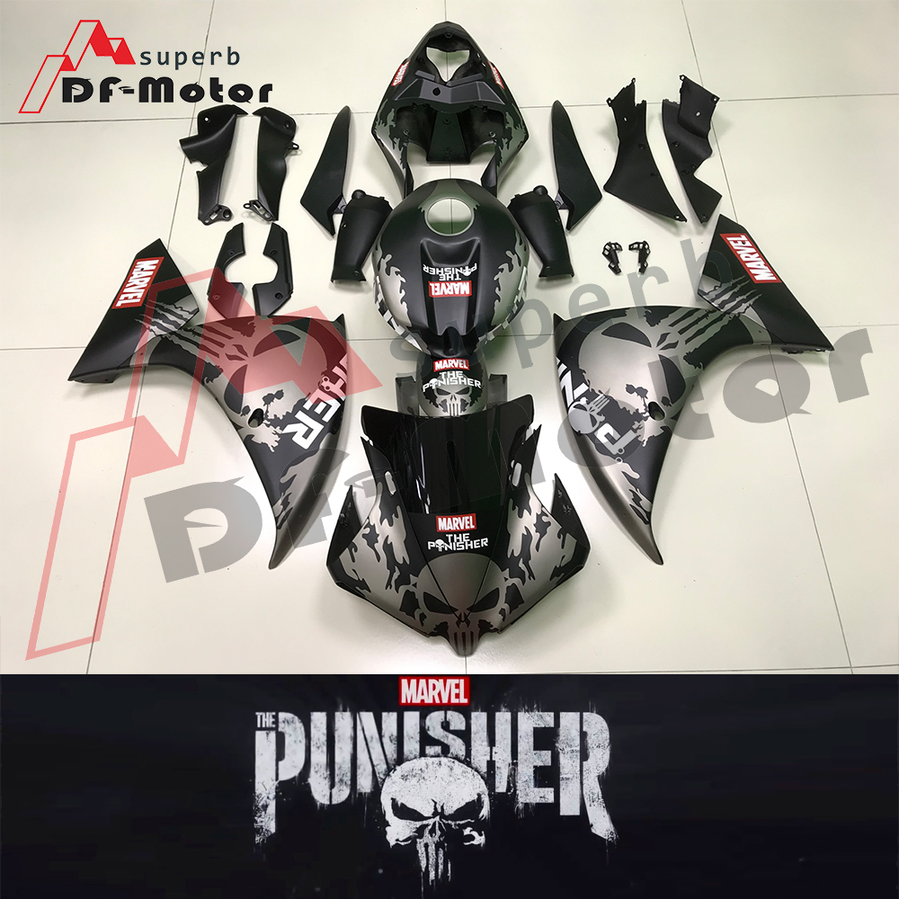 Special customized version Marvel Punisher New Motorcycle Fairings For Yamaha YZF R1 Year 2009 2010 2011 Fairing Kit Hulls