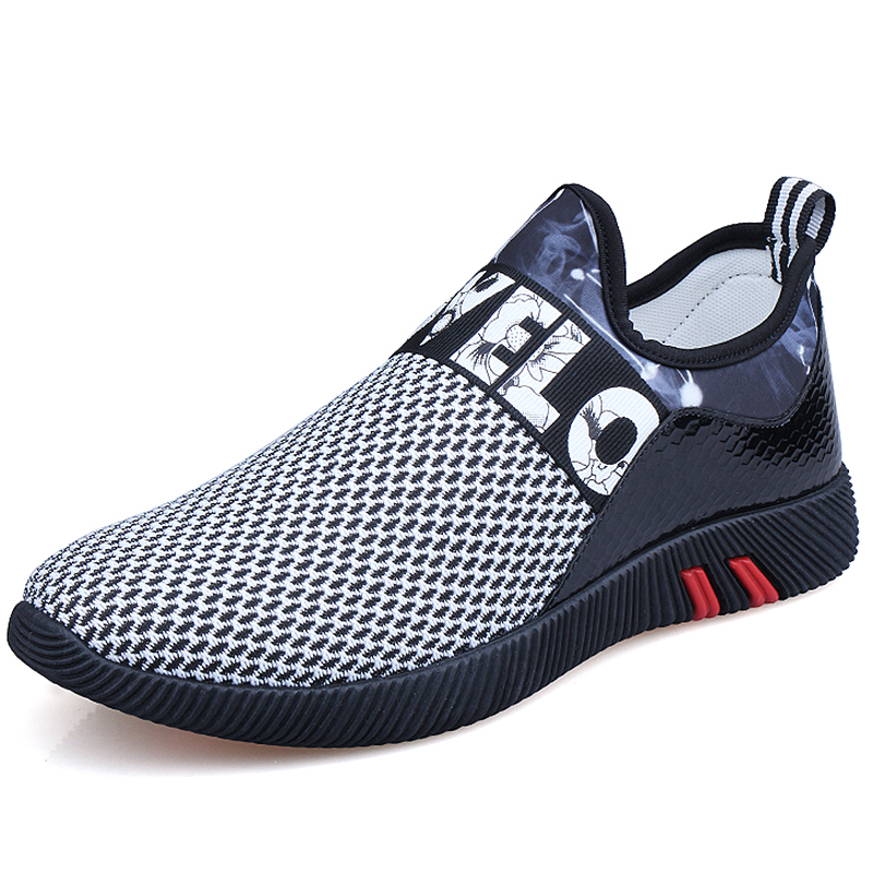 Men Shoes 2018 Fashion Brand Mesh Shoes Sneakers High Quality Breathable Slip on Summer Casual sneakers men