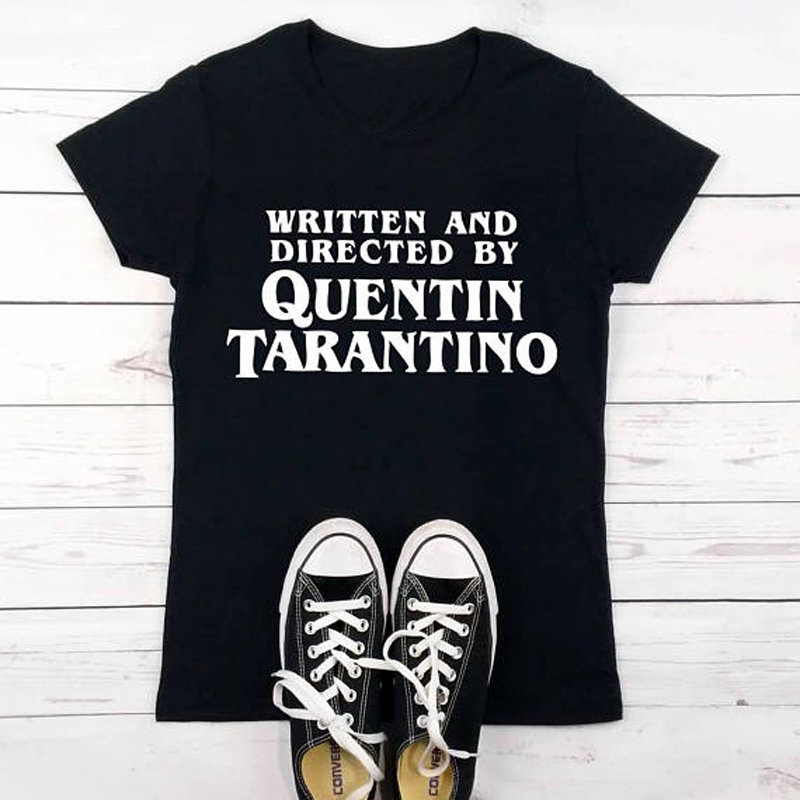 1c48239c1 Written And Directed T-Shirt Quentin Tarantino Graphic Tee Casual O-Neck  High Quality Funny Tops Clothing tshirt Gifts