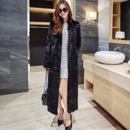 De Vestes Luxe long D'hiver X Manteaux Vintage Vague Fourrure Femmes Vison Faux Grand 2019 Manteau M757 txUpwqxR16