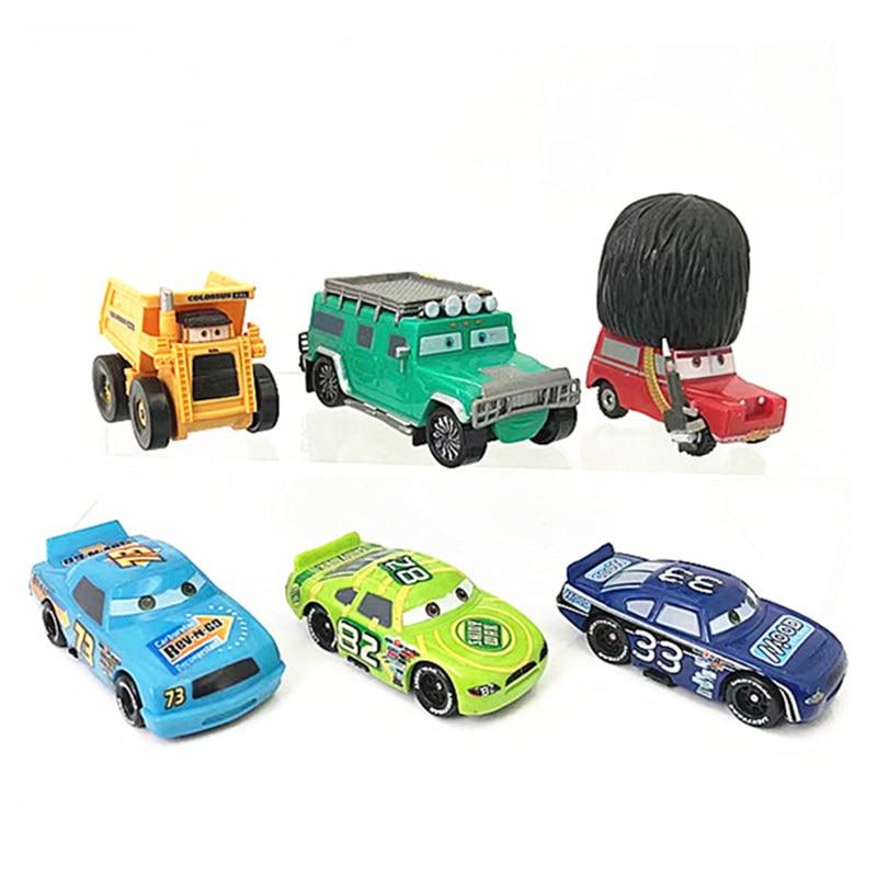 Disney Pixar Cars 3 Lightning McQueen Mater Jackson Storm Ramirez 1:55 Diecast ABS Model Toy Car Gift For Kids
