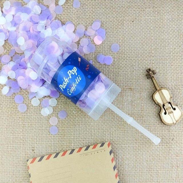 10 teile/satz Push Pop Meerjungfrau Konfetti Poppers für Hochzeit Glücklich Geburtstag Junge Blau Rosa Papier Mini Runde Konfetti Party Dekoration