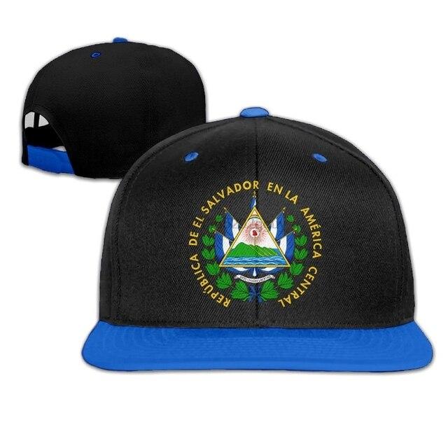 Coat Of Arms Of El Salvador Bisbol Cap Adjustable Olahraga Topi untuk Pria dan Wanita