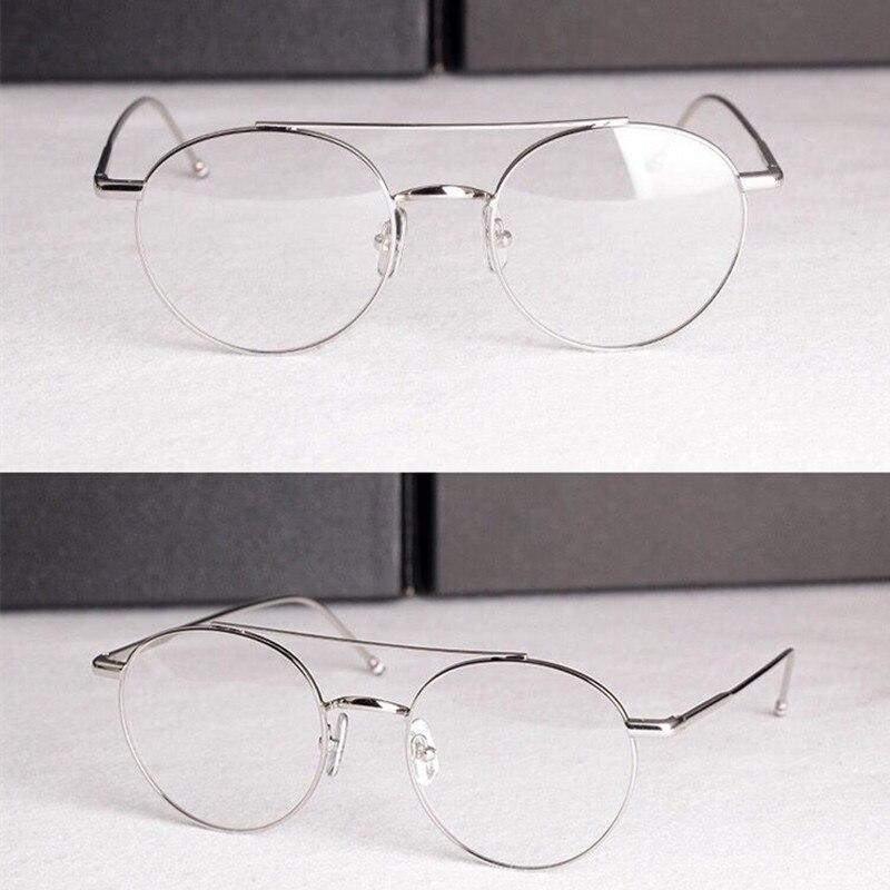 Retro Rodada Óculos Óculos Óculos de Quadros Homens Óculos Oculos Miopia Prescrição  Óculos Mulheres com Pacote 010fe3e0c0
