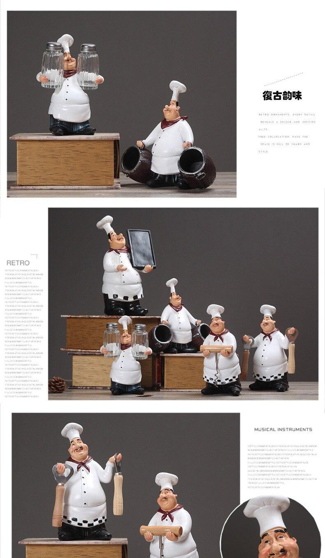 Figuren Miniaturen Harz Koch dekor kreative Küche Restaurant ...
