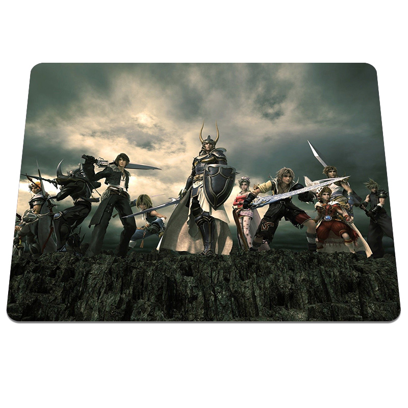 New design High quality Dissidia Final Fantasy Pattern Durable Gaming Notebook Computer Mouse Mat Soft Silicone Mouse Pad