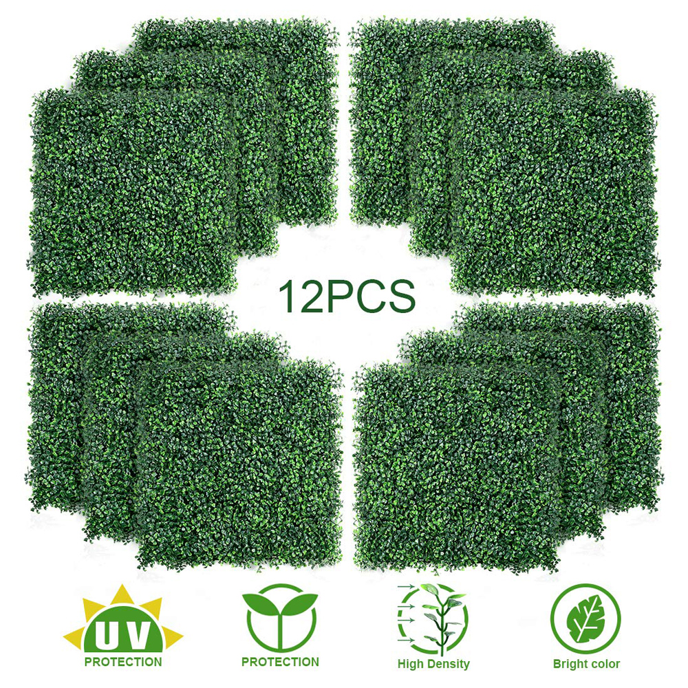 WHDZ 60*40*4cm Artificial Grass Simulated Lawn Turf Simulation Plants UV Protected Outdoor Indoor Use Home Garden Fence Backyard