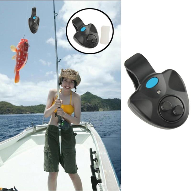 Практичный электронный рыболовный звук Укус Искатель светодио дный сигнализация СВЕТОДИОДНЫЙ свет предупреждение колокол клип на удочку рыболокаторы
