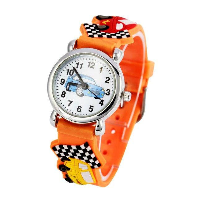 DROP SHIPPING Cute Cartoon Car 3D Child Watches, Christmas Gift waterproof watch