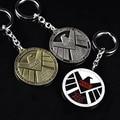 Anime Avengers Keychain For Men Trinket Aegis Bureau Agents Badges Keyring Car Key Chain Ring Chaveiro Jewelry Gift Souvenirs
