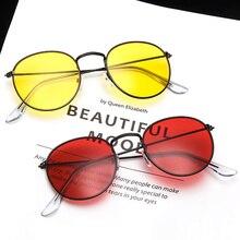 Retro Round Sunglasses Women Brand Designer Red Yellow Sun G