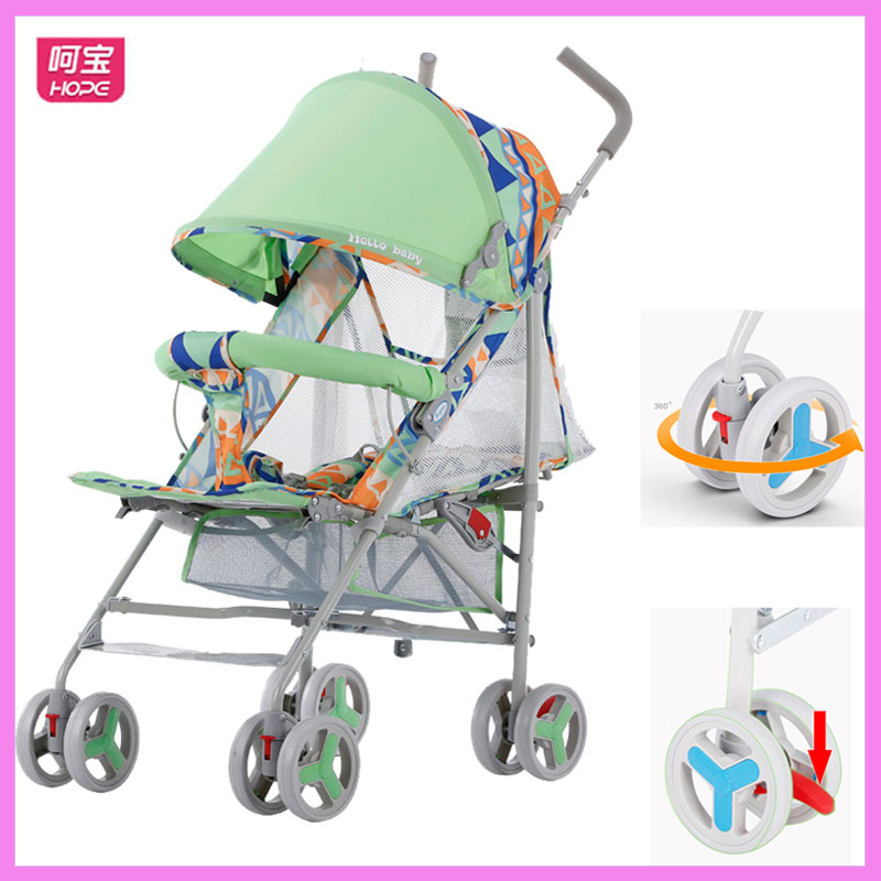HOPE Summer Umbrella Baby Stroller with Mosquito Net Breathable Super Light Portable Travel Backpack Stroller Newborn Lie Flat