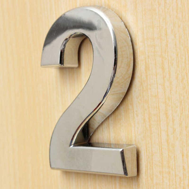 3D Angka Pintu Label Rumah Laci Tanda Plating Gate Angka 0-9 Plastik Nomor: Hotel Stiker Alamat pintu Dekorasi