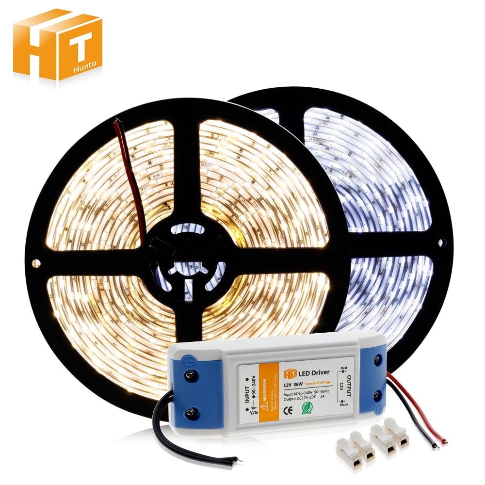 LED Strip 5630 12V 60 LED/m Warm White / White / Cold White 5M Home Decoration Lamps + DC12V 3A Driver светодиодная лента swgroup smd5050 14 4w 12v 60 led m 5m ip65 cold white