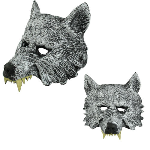 dropshipping new simulation animal rubber wolf head mask gray cosplay halloween party costume toychina - Wolf Halloween