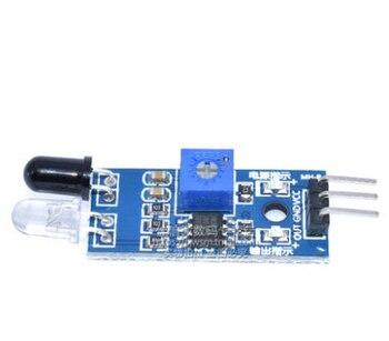 10 sztuk/partia samochód zdalnie sterowany odblaskowe fotoelektryczne 3pin IR podczerwieni unikania przeszkód moduł czujnika dla arduino Diy Kit
