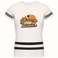 Bienvenido a Tatooine Adultos Para Mujer de La Camiseta de Star Wars Logo Aduana Camiseta Nueva Moda Señoras de la Marca de Algodón Camiseta
