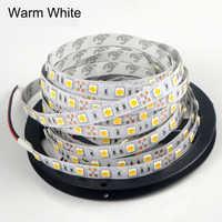 5m 12V SMD 5050 Flexible LED Strip light 60Leds/m ip20 Non-waterproof LED Tape lamp For Indoor Decoration lighti