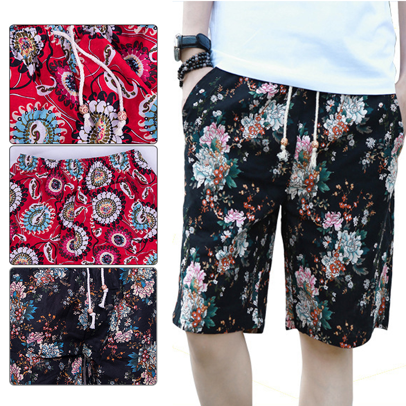 Board Shorts Bright Summer Men Shorts Pants Linen Short Beach Shorts Men Beach Pant Fashion