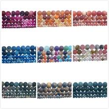 4 6 8 10 MM Dull Polish Matte Natural Stone Bead Pink Quartz Amethysts Agates Amazon For Jewelry Making DIY Bracelet Necklace