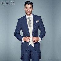 New Style Men's Wedding Tailcoats Bridegroom Suits Groom Tuxedos Best Man Suits