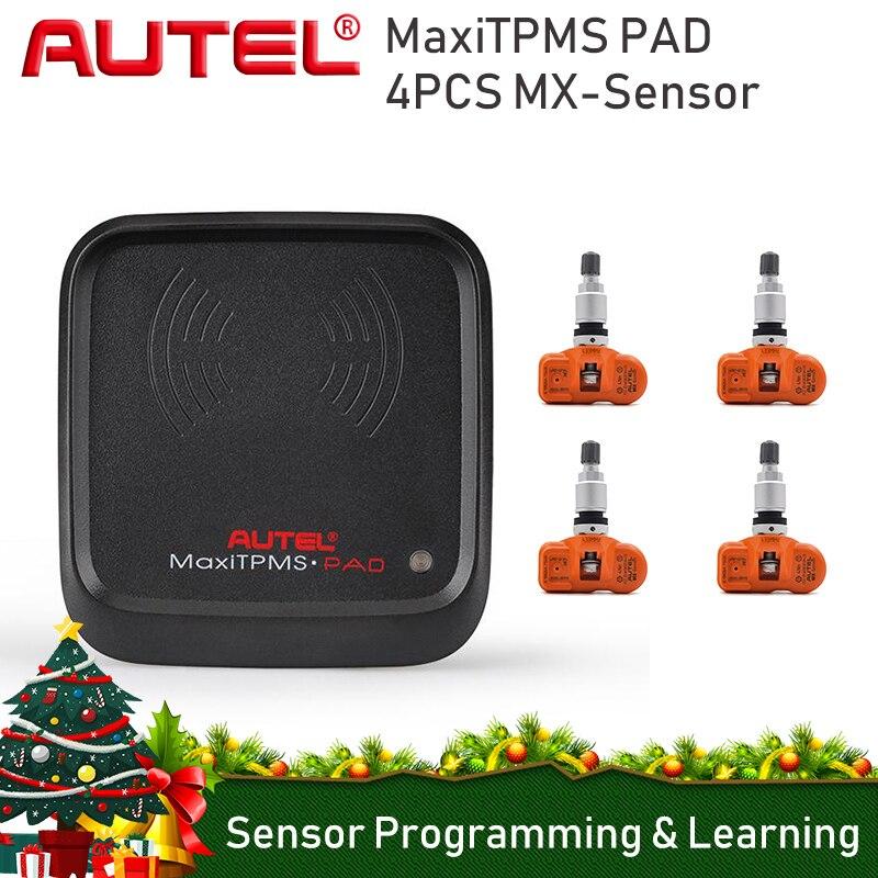 4 piezas Autel MaxiTPMS Pad de Sensor de presión de activación programador Activar la herramienta Mx-Sensor 315 MHz 433 Mhz neumático sensores de presión