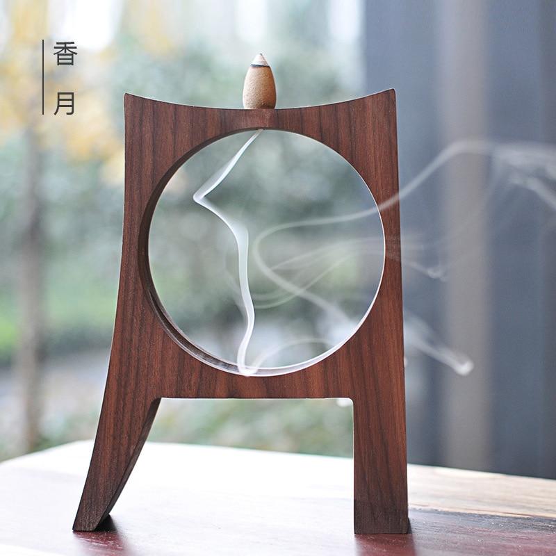 Creative bois décoration bâton encens/rétro-flux brûleur d'encens thé cérémonie décoration en bois ornements artisanat ameublement