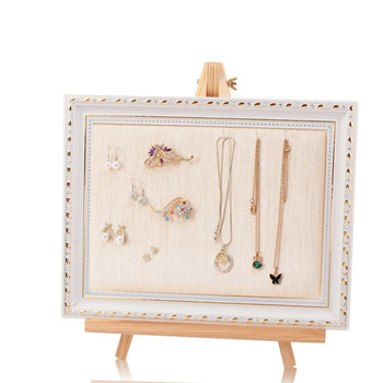 wood photo frame Shaped Necklace earing Jewelry Display Stand jewelry rack a4 size wood photo frame solid wood photo frame stand table display photo quadro decoration tv wall frame best gift 2019
