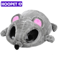 HOOPET Cat Bed Grey Mouse Shape Small Cats Dogs Cave Bed Removable Cushion,waterproof Bottom House Gift For Pet Fiber