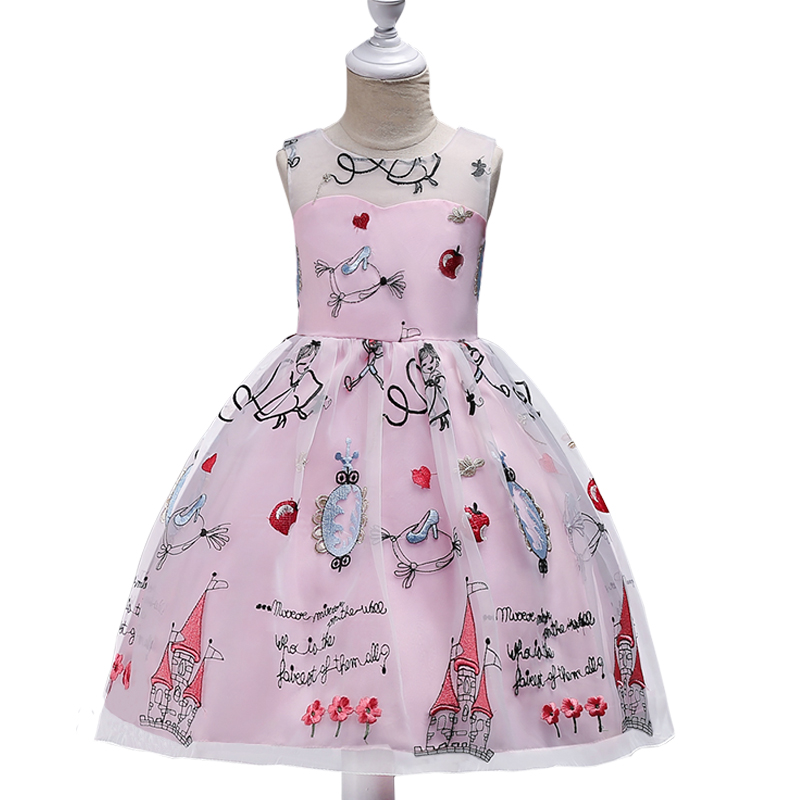 Children Princess Girl Dress for Wedding Birthday Party Teenage Girl Kids Evening Prom Dresses for Girls 3-5-7-9-10-11-12-14T girls dress 2017 new summer flower kids party dresses for wedding children s princess girl evening prom toddler beading clothes page 3