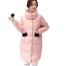 2016 зима женщины куртка вниз хлопка куртки ватные верхняя одежда куртка женская мода тонкий средней длины хлопка-ватник AE1872