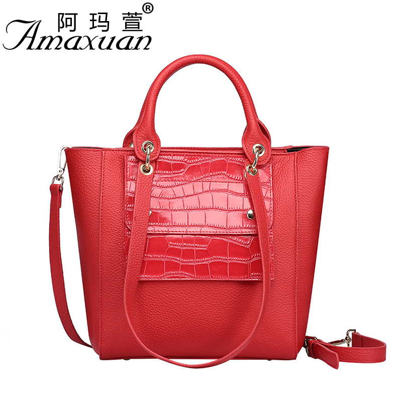 2017 spring and summer new genuine leather handbag European and American oblique cross-portable women single shoulder bag NB02 2016 fashion spring and summer crocodile pattern japanned leather patent leather handbag one shoulder cross body bag for women