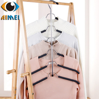Factory Outlet Creative Sponge Non Slip Multi Layer Stainless Steel Multi Function Wardrobe Closet Magic Clothes
