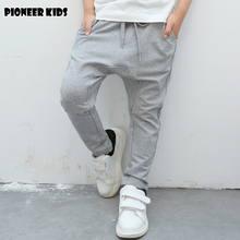 Pioneer Kids 2016 Boys Pants For Retail New Spring Autumn Cotton Pants Boys Casual Sports Trousers Harem For School Boy