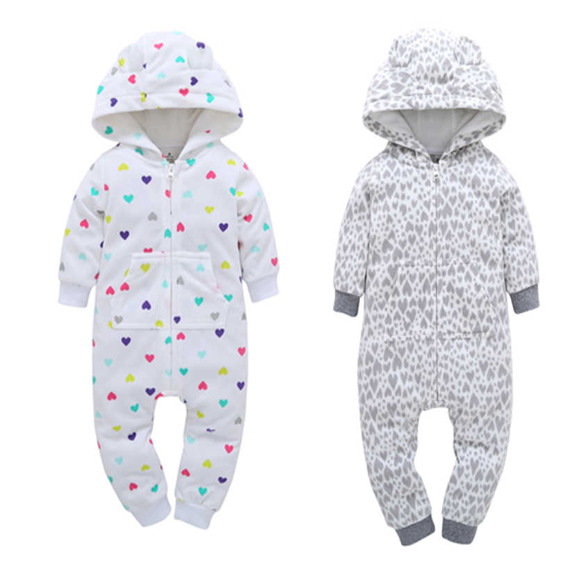 d04264c02 baby winter clothes newborn rompers baby boy girl long sleeve hooded fleece  jumpsuit overall infant Christmas