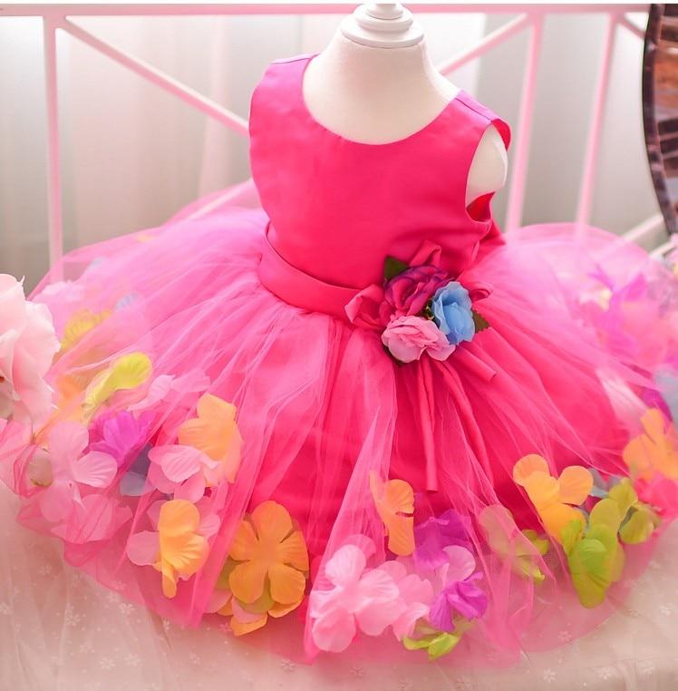 478e304fcdc4 big bow petal sweet girl dress children Performance Costume ...