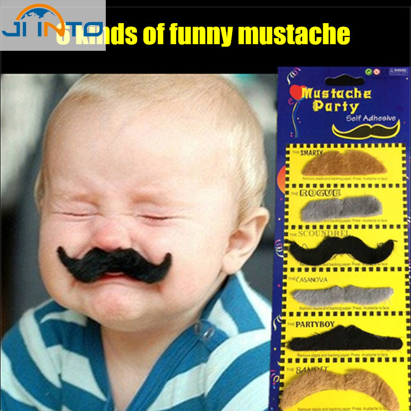Black Color Fake Beard Mustache For Ume Ball By Joy Cart