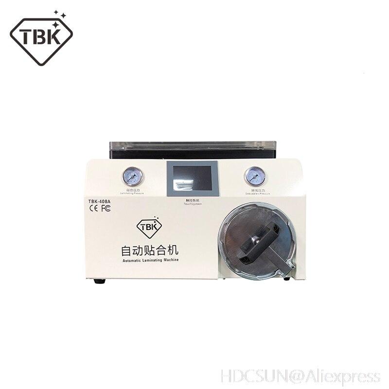 TBK 408A 15 дюймов вакуумный насос ЖК дисплей ОСА Ламинирование механический деаэратор в одном машина для смартфонов Сенсорный экран отреставр