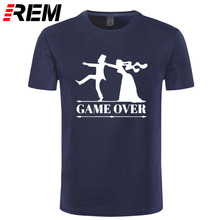 REM game over bride groom bachelor bachelorette party T Shirt