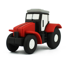 Fashion Red Tractor Shape Cartoon Thumb U Disk 8GB USB Stick 16GB USB Pendrive 32GB 64GB USB Flash Drive Pen Drive Memory Stick