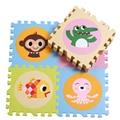 Material de espuma macia do bebê Playing Game Mat com animais e números Pattern1.4cm de espessura tamanho 30 x 30 cm Design plano 20 peças 1 conjunto