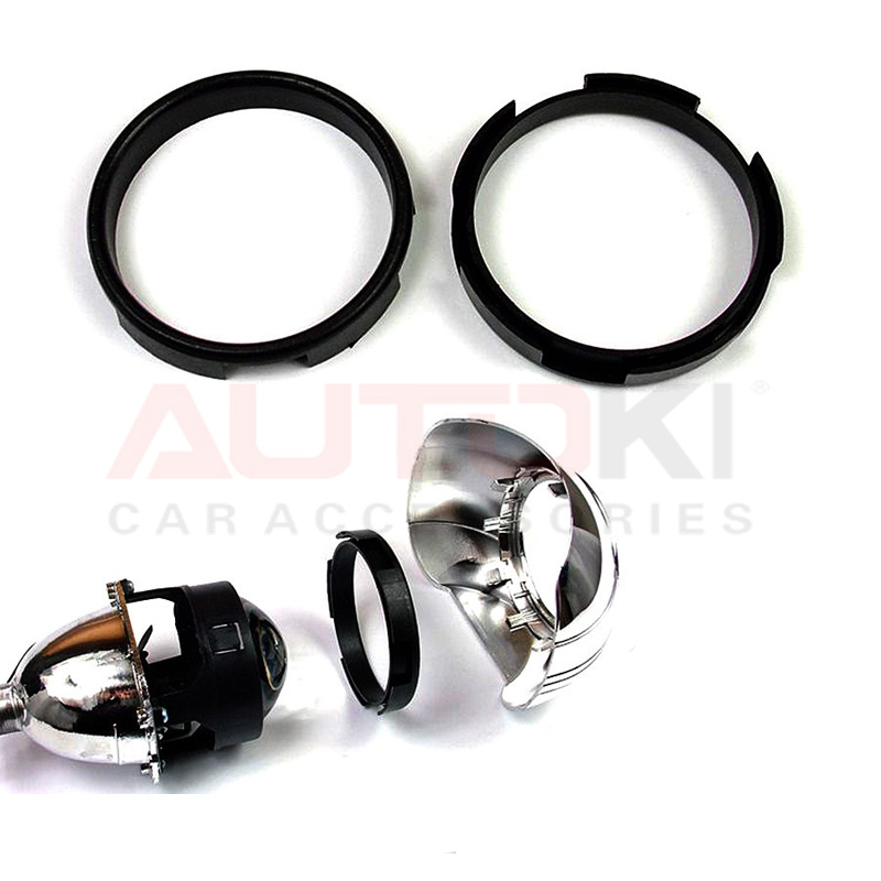 2pcs Projector Lens Adapter Ring Automobile Lamp High Quality Parking Car Stying DIY Headlight 2.5 Inch To 3.0 Inch Black Colour
