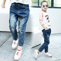 girls star hole jeans Autumn 2017 new Korean Chinese children denim jeans pants trousers