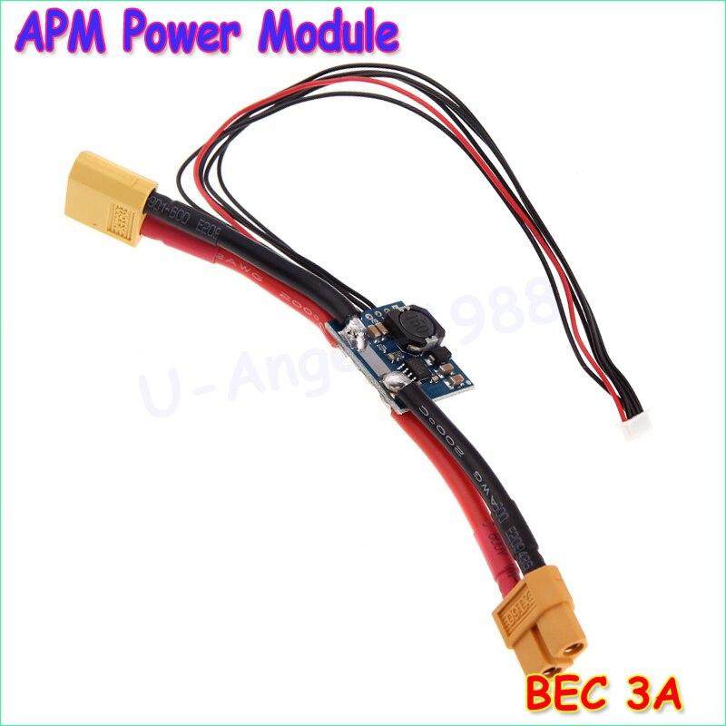 1pcs APM2.5.2 APM2.6 Flight Control Board Pixhawk Power Module V1.0 Output BEC 3A XT60 Plug for RC Helicopter Wholesale Dropship