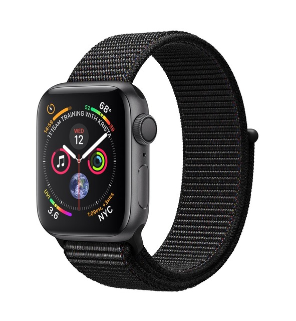 Apple Watch Watch Series 4, OLED, Touchscreen, GPS (satellite), 18 h, 30.1 g, Gray