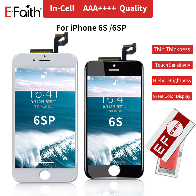 Real 3D Touch Screen AAA incell EFaith 10PCS Lot For iPhone 6S 6S Plus lcd Display