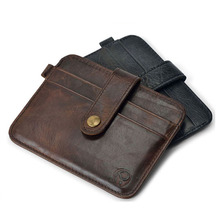 Slim leather multi-card-bit pack bag men Wallet Creadit Card
